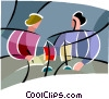 Vector Clip Art image  of a business meetings