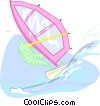 summer sports, windsurfing Vector Clipart illustration