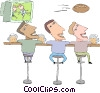Vector Clip Art picture  of a sports bar