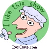entertainment, I like this show Vector Clip Art image