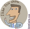 entertainment, I like this show Vector Clip Art graphic