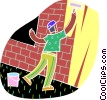 chalk style, painter Vector Clipart illustration