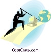 business concepts, leveraging technology Vector Clipart illustration
