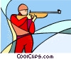 Olympic sports, marksman Vector Clipart illustration