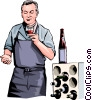 Vector Clipart picture  of a wine maker