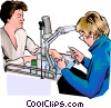Vector Clipart illustration  of a manicurist