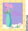 Funeral card, Our Deepest Sympathy Vector Clipart picture