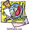 Vector Clipart graphic  of a restaurant meal