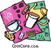 Vector Clip Art graphic  of a tea time