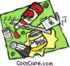 Vector Clipart picture  of a condiments