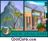 Vector Clipart graphic  of a New Zealand postcard design