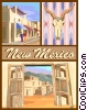 Vector Clipart graphic  of a New Mexico postcard design