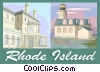 Vector Clipart illustration  of a Rhode Island postcard design
