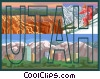 Vector Clipart picture  of a Utah postcard design