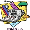 Vector Clipart illustration  of a books and reading material