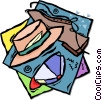 hats and shoes Vector Clip Art image