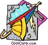 rain apparel Vector Clip Art picture