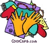 gloves and mittens Vector Clip Art picture