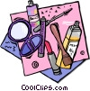 Vector Clip Art graphic  of a cosmetics
