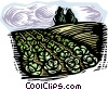 Vector Clipart image  of a farm scene