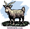 farm scene, goat Vector Clipart graphic