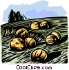 Vector Clip Art picture  of a Farm scene