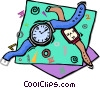 Vector Clip Art graphic  of a watches