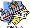 Vector Clip Art picture  of an air travel