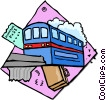Vector Clip Art image  of a public transportation