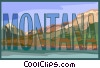 Montana postcard design Vector Clipart picture