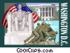 Vector Clip Art graphic  of a Washington D.C. postcard