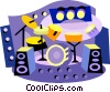 Vector Clip Art image  of a entertainment industry