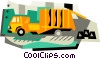 garbage truck Vector Clipart illustration
