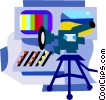 Vector Clip Art image  of a film and video industry