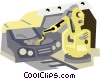 robotics in manufacturing Vector Clipart picture