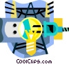 Vector Clip Art picture  of a hydro electric industry