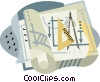Vector Clipart picture  of a drafting industry
