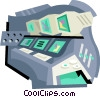 Vector Clip Art picture  of a control room