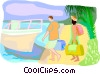 Vector Clip Art graphic  of a travel and vacations