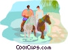Vector Clip Art picture  of a travel and vacations