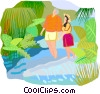 travel and vacations Vector Clip Art graphic