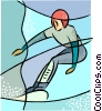 Olympic sports, snowboarding Vector Clipart graphic