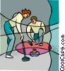 Olympic sports, curling Vector Clipart image