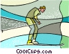 Olympic sports, cross-country skiing Vector Clip Art picture