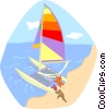 summer sports, catamaran Vector Clipart illustration