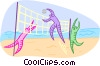 Summer sports, beach volleyball Vector Clipart picture