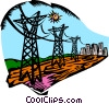 Vector Clip Art graphic  of a hydro electrical industry
