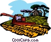 Vector Clipart picture  of a gathering the hay crop
