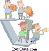 Vector Clip Art graphic  of a motion picture industry