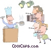 motion picture industry, film production Vector Clip Art picture